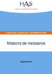 Publication Du Cahier Des Charges Pour Lu0027expérimentation Des Maisons De  Naissance