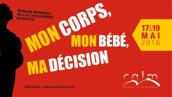 """SMAR 2016 : """"Mon corps, mon bébé, ma décision"""""""
