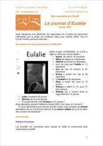 Le Journal d'Eulalie n° 1