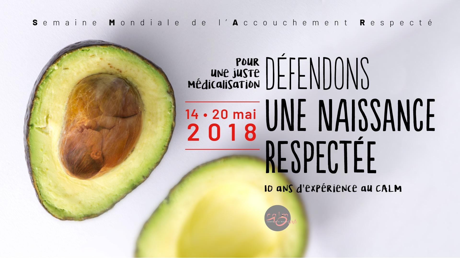 """SMAR 2018 : """"Défendons une naissance respectée"""""""
