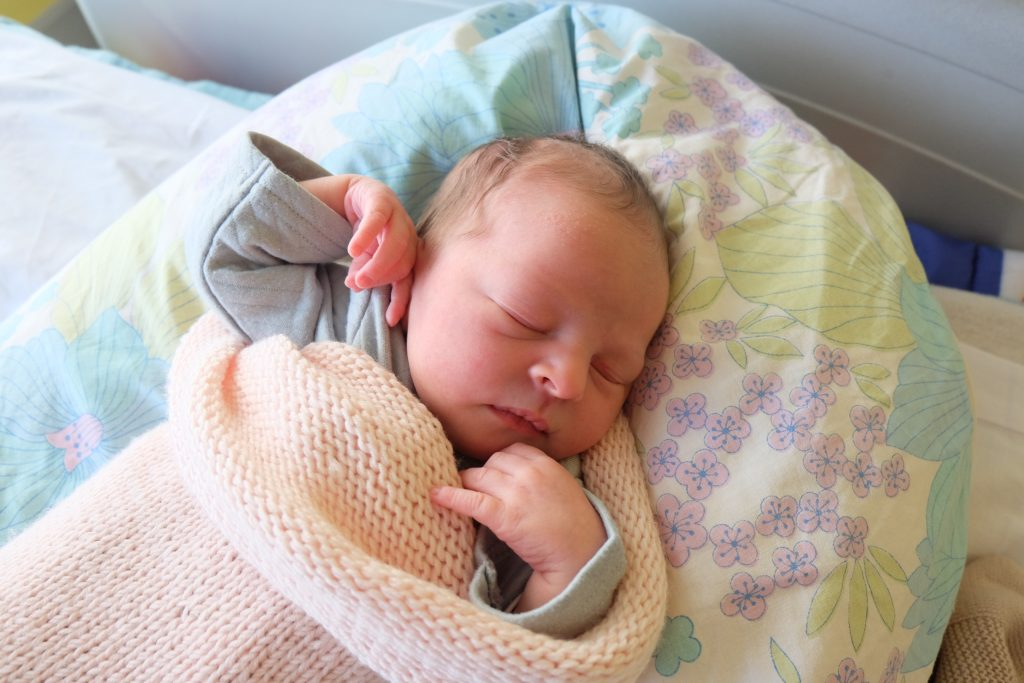 Anne-Charlotte, maman de Matilda née le 9 décembre 2017